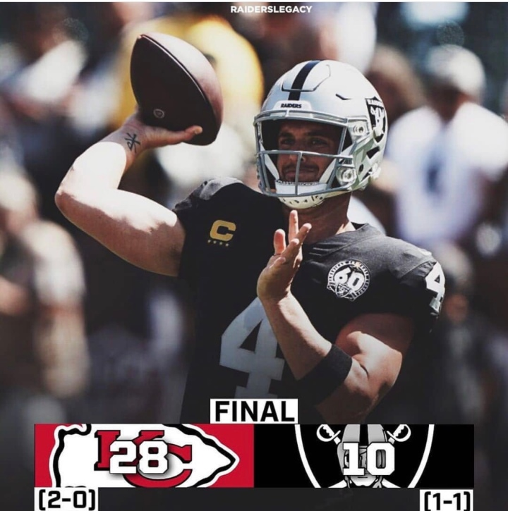 Week 2 (Chiefs): L (1-1) #RaiderNation