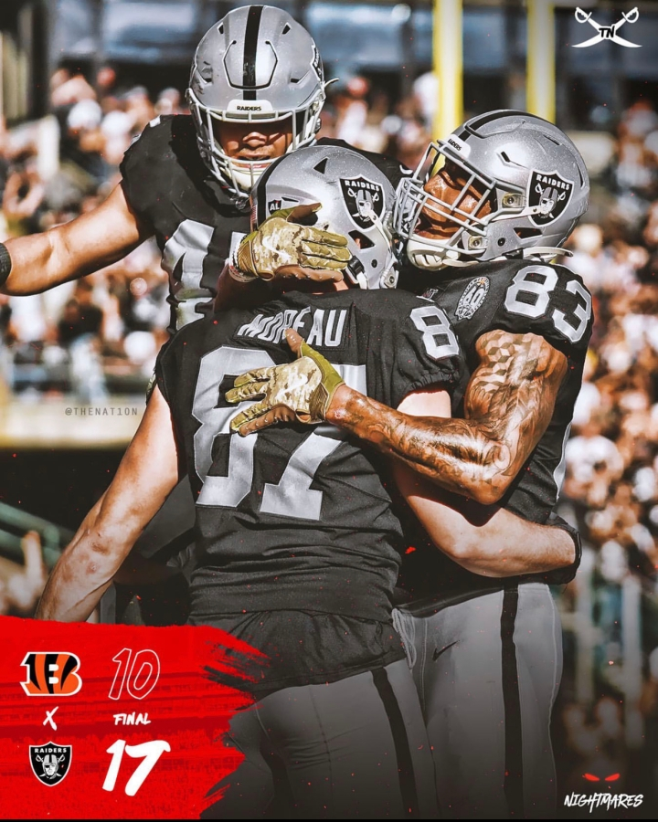 Week 11 (#Bengals) Three in a row.. (6-4) Gameday chain 3-1, and now, Gameday Tik Tok (1-0) LFG!!! #RaiderNation #Raiders #NFL #BigTalkBlog