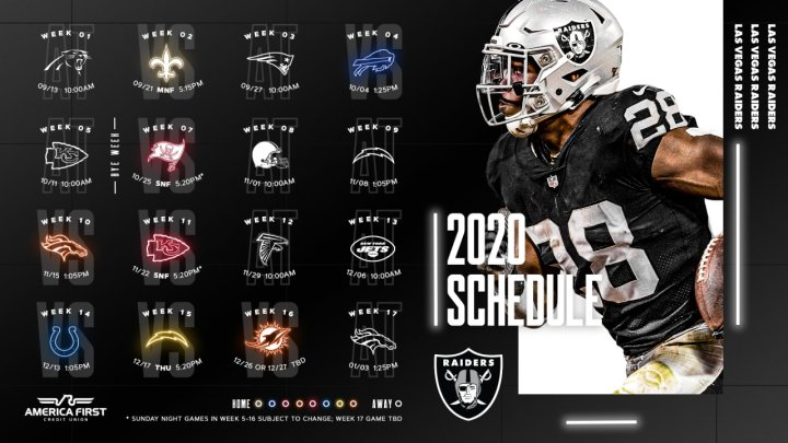 #Raiders Schedule is out, and here are my predictions for it… #RaiderNation