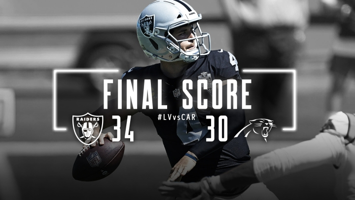Week 1: W!!!!! (1-0) Undefeated Las Vegas Raiders #RaiderNation #NFL