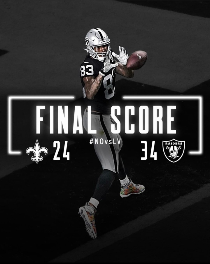 Week 2: Saints… DUB! Still undefeated! Shut up haters! #RaiderNation