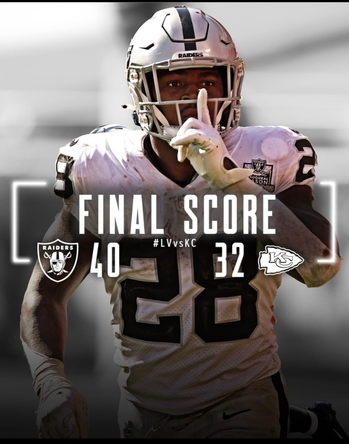 Week 5: The Las Vegas Raiders have never lost to the Kansas City Cheifs! #RaiderNation