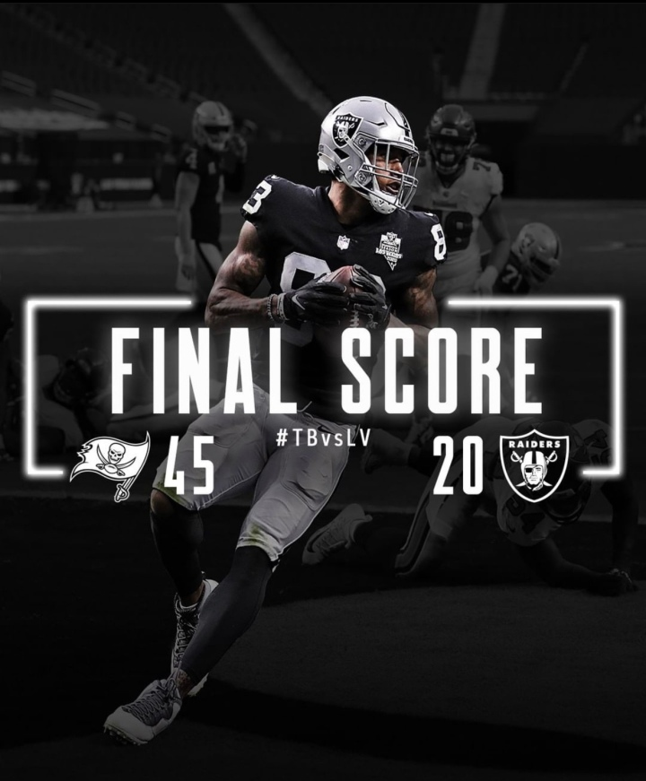 Raiders lose. 3-3. Not the end of the world, considering the circumstances… #RaiderNation